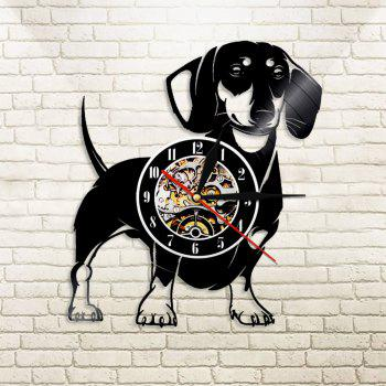 Vinyl Wall Clock Home Decor Gifts Black  12 Inch - BLACK WITHOUT BATTERY