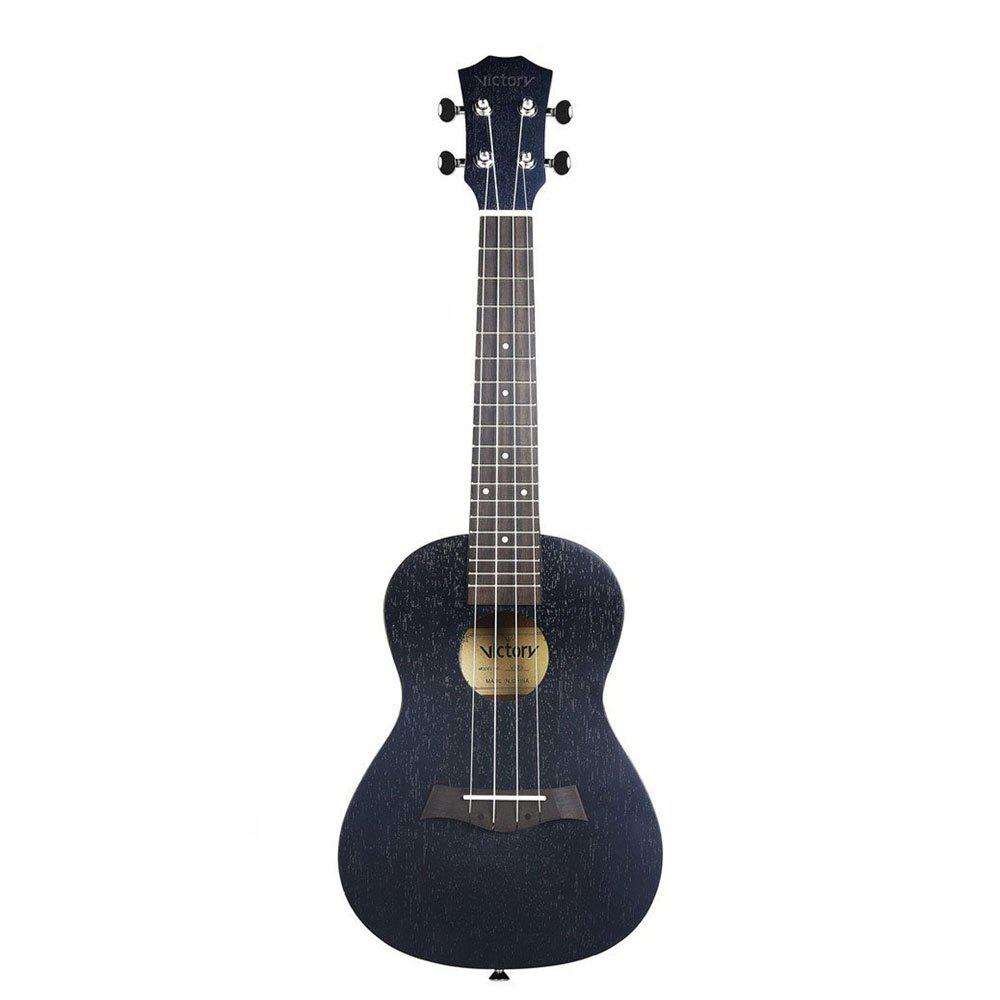 Concert Ukulele 23 inch Mahogany Aquila Strings Beginner Kit ( Black )