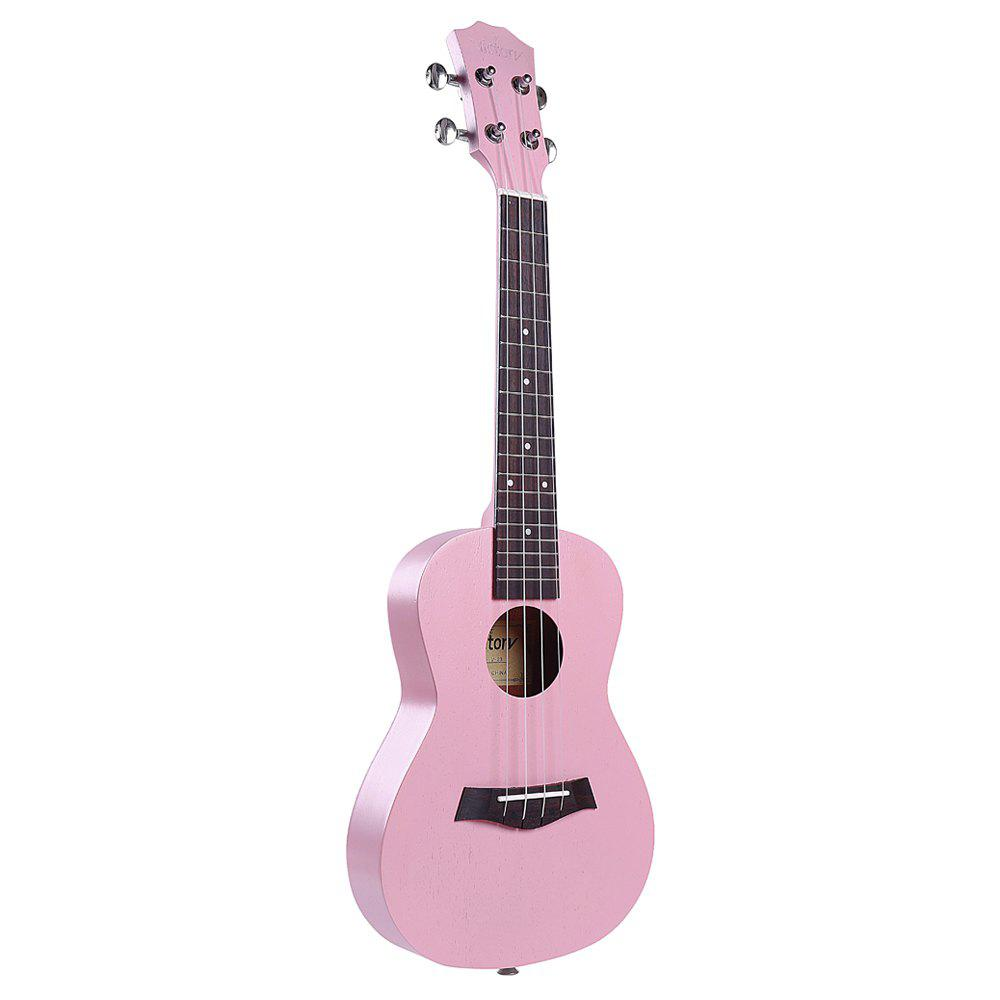 Concert Ukulele 23 inch Mahogany Aquila Strings Beginner Kit ( Pink ) 26inch ukulele hawaiian 4 strings mini guitar mahogany for beginner player