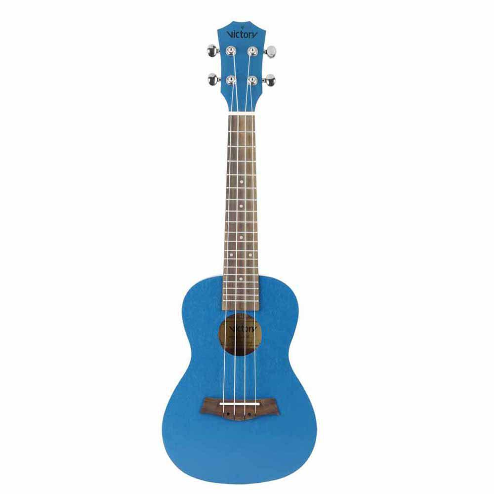 Concert Ukulele 23 Inch Mahogany Aquila Strings Beginner Kit ( Blue )