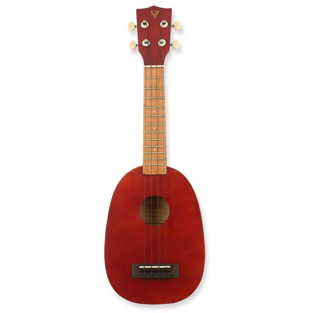 Pineapple Soprano Ukulele 21 Inch Beginner Kit 03 23 inch green mahogany ukulele hawaiian guitar uke for beginner adult with bag strap tuner strings picks