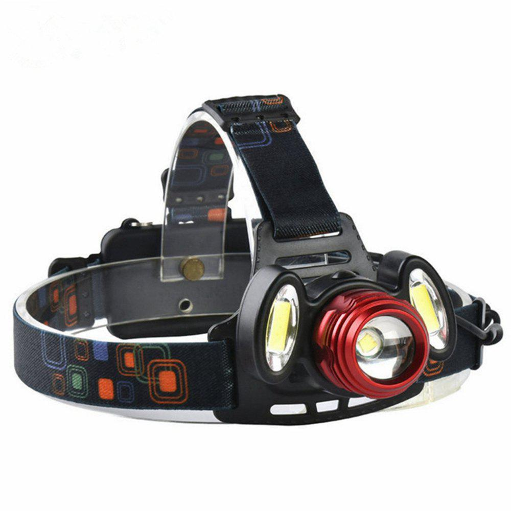 ZHISHUNJIA YH6783 1xXMLT6+2xCOB 900lm LED 4Mode White Zooming Focus Headlight - RED