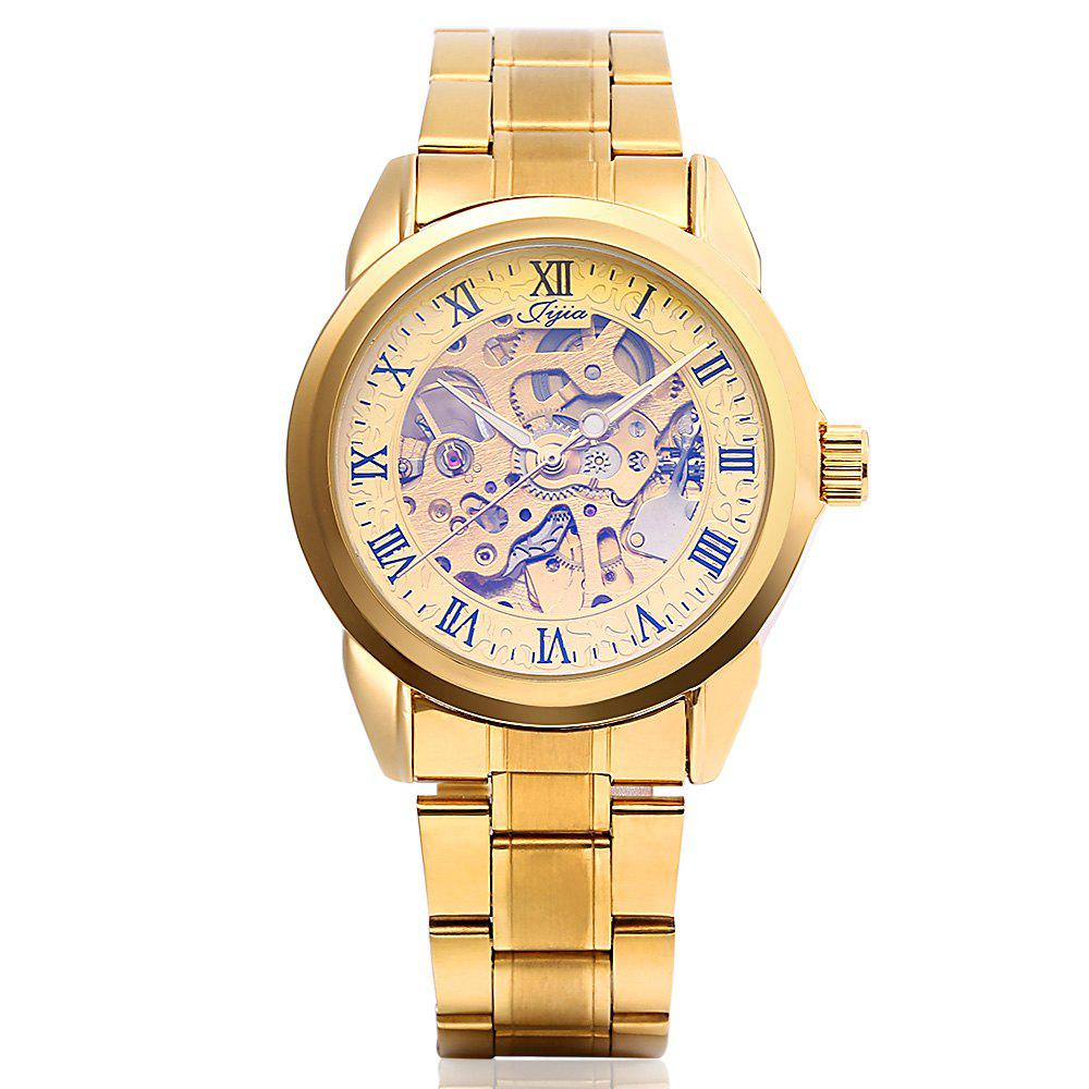 JIJIA G8132 Fully Automatic Mechanical Watches - GOLDEN BROWN