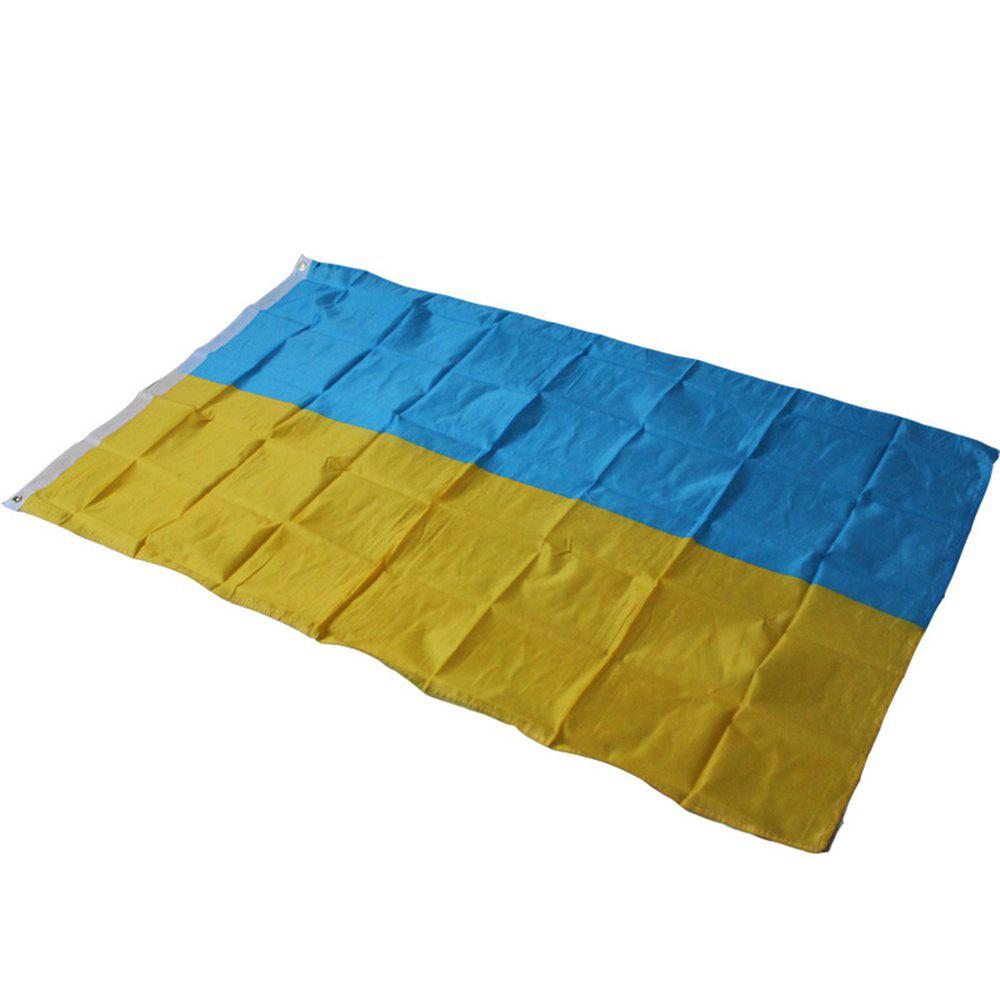 High Quality 90X150 Cm Ukrainian Flag Festive Home Interior and Exterior Decoration Souvenir - multicolor