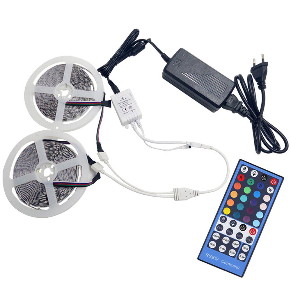 KWB 2 x 5M LED Strip Light 5050 RGBW 600LEDs with 24Key Remote and Power Supply - multicolor NON WATERPROOF