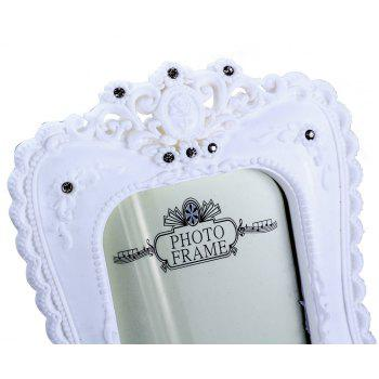 Bz-07 Rustic White Resin-Encrusted Picture Frame - WHITE