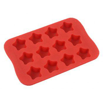 Star Shape Silicone Ice Cube Mold DIY Cake Jelly Chocolate Tool - VALENTINE RED