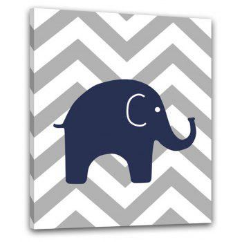 Contemporary Simple Living Room Sofa Background Small Elephant Adornment Print - multicolor 12 X 20 INCH (30CM X 50CM)