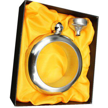 Russian Bracelet Round Stainless Steel Flagon Suit - SILVER