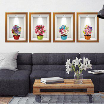 The Flower Box Wall Decoration New Creative Cartoon 3D - multicolor