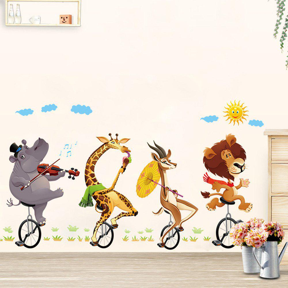 Bike Animal Buddy 3D Cartoon Stickers Creative Decoration cute kawaii cartoon animal stickers creative fruit vegetables sticky paper for scrapbooking diary free shipping 994