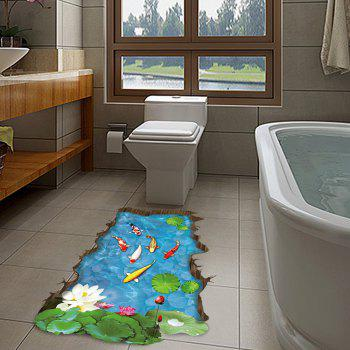 3D Cartoon Fish Pattern Wall Stickers Creative Home Decoration - multicolor