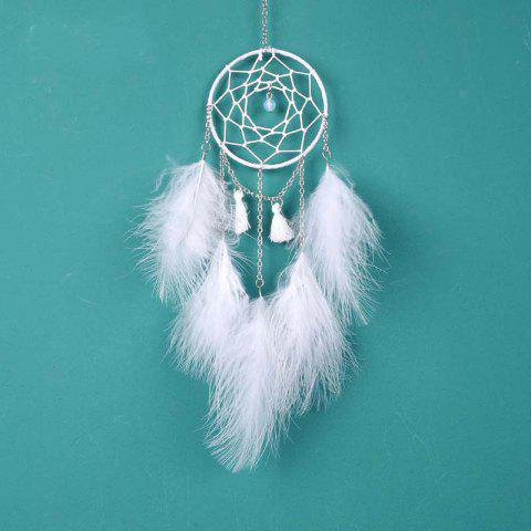 Nouveau Creative White Moonlight Dreamcatcher suspendus décorations - Blanc
