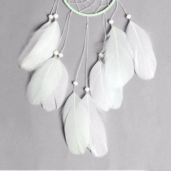New Style Feather Dreamcatcher Handmade Home Decoration - WHITE