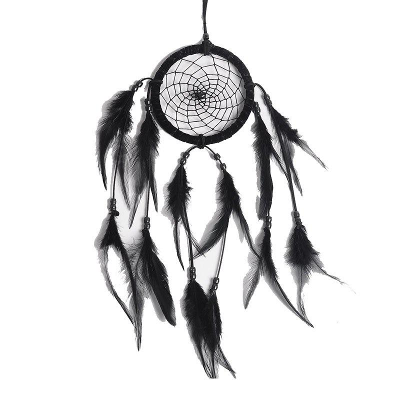 Black and White Simple Dreamcatcher Handcraft Home Decoration Gift - BLACK