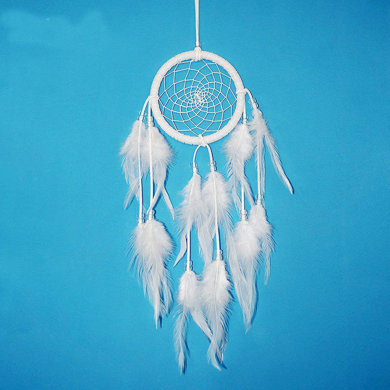 Black and White Simple Dreamcatcher Handcraft Home Decoration Gift - WHITE