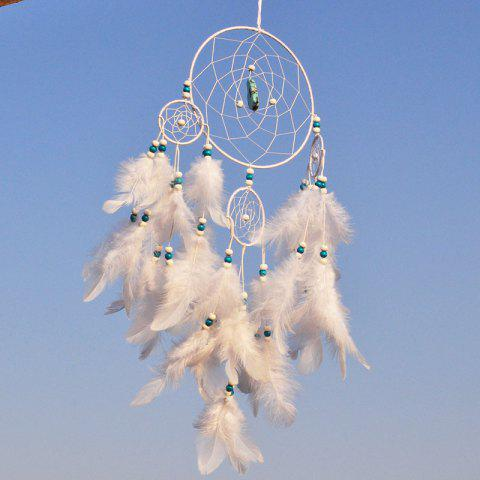 New Style Turquoise Dreamcatcher Fashion Home Decoration - WHITE