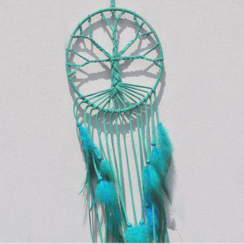 New Style Tassel Ribbon Dreamcatcher Fashion and Simple Decoration - BLUE LAGOON