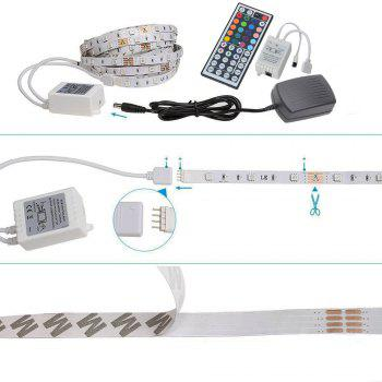 HML 5050 x300 RGB LED Lights Kit with 44key IR Remote Controller and EU-plug - BLACK