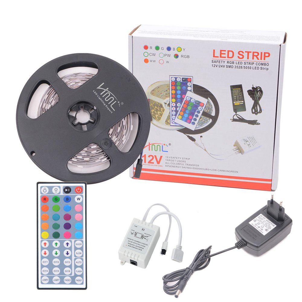 HML 5050 x300 RGB LED Lights Kit with 44key IR Remote Controller and EU-plug