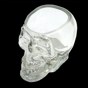 Crystal Skull Whiskey Glass Cup Drinking Ware Bar - TRANSPARENT