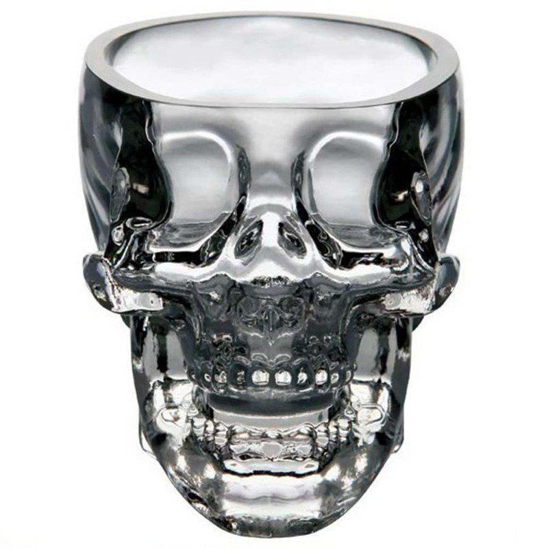 Crystal Skull Whiskey Glass Cup Drinking Ware Bar bone glass beer stan shooting glass head whiskey drinking popular design new fashion party