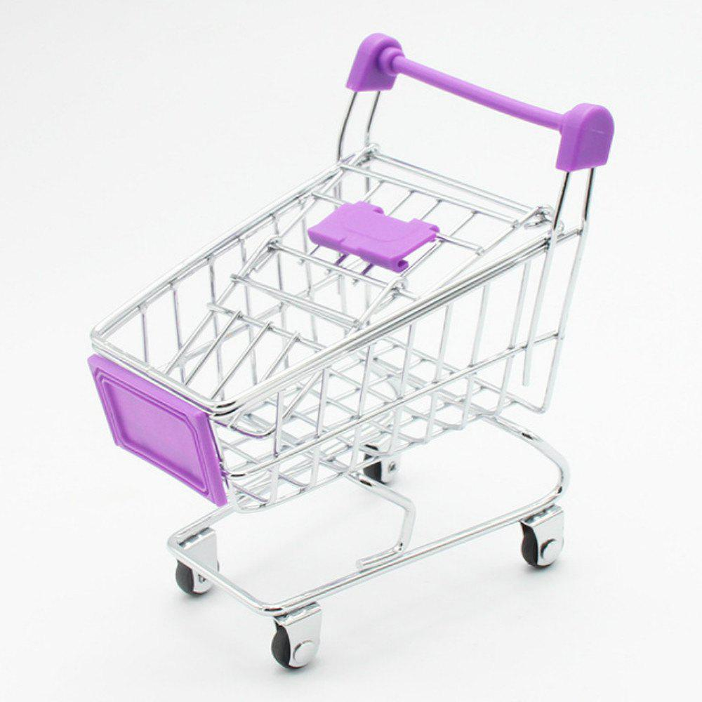 Mini Creative Toy Supermarket Shopping Cart Model Storage Basket juki mechanical feeder cart storage trolley cart
