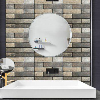 3D Stereo Stone Brick  Wallpaper Living Room - GRAY CLOUD