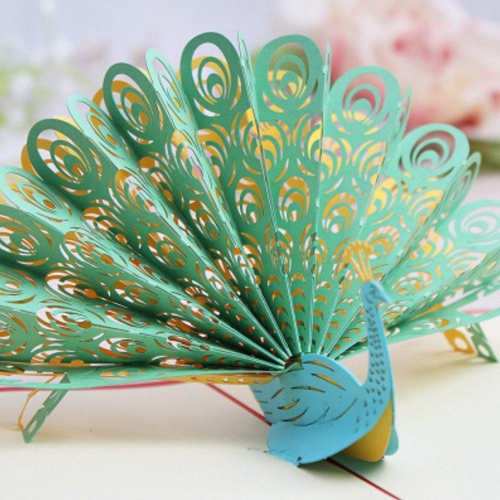 3D Peacock Greeting Card Handmade 140pcs set merry christmas greeting card various patterns santa elk card party for festival gift mini leave message card