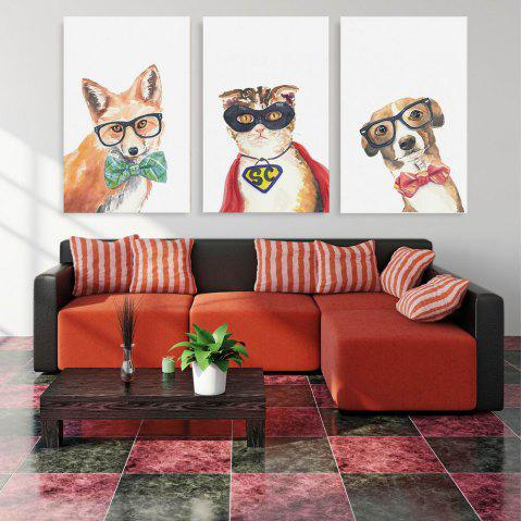 W174 Animals Unframed Wall Canvas Prints for Home Decorations 3PCS - multicolor A 45CM X 70CM X 3PC
