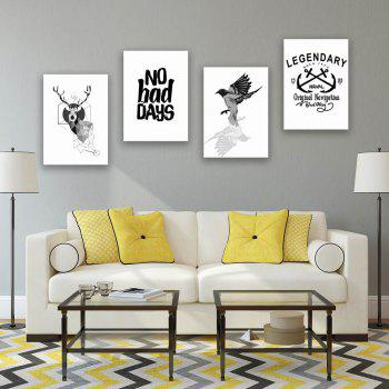 W175 Nordic Style Unframed Wall Canvas Prints for Home Decorations 5PCS - multicolor A 25CM X 35CM X 5PC