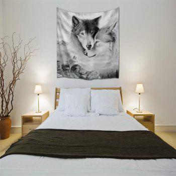 Couple Wolves 3D Printing Home Wall Hanging Tapestry for Decoration - multicolor A W230CMXL180CM