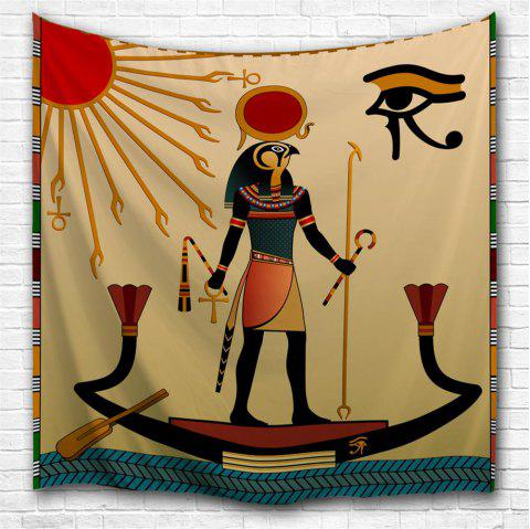 Egyptian Sun God 3D Printing Home Wall Hanging Tapestry for Decoration - multicolor A W153CMXL130CM