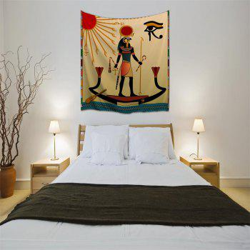 Egyptian Sun God 3D Printing Home Wall Hanging Tapestry for Decoration - multicolor A W153CMXL102CM