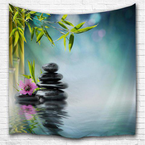 Zen Lake Surface 3D Printing Home Wall Hanging Tapestry for Decoration - multicolor A W203CMXL153CM