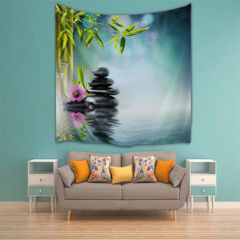 Zen Lake Surface 3D Printing Home Wall Hanging Tapestry for Decoration - multicolor A W153CMXL102CM