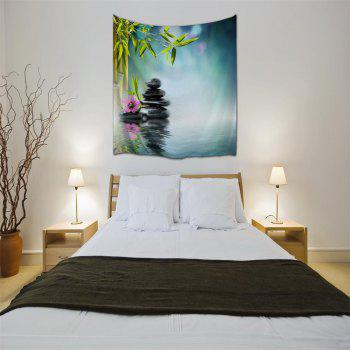 Zen Lake Surface 3D Printing Home Wall Hanging Tapestry for Decoration - multicolor A W153CMXL130CM