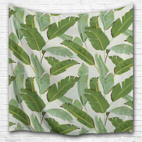 Banana Leaf 3D Printing Home Wall Hanging Tapestry for Decoration - multicolor A W153CMXL102CM