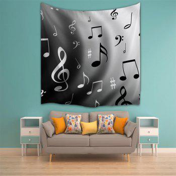Wave Notes 3D Printing Home Wall Hanging Tapestry for Decoration - multicolor A W153CMXL102CM