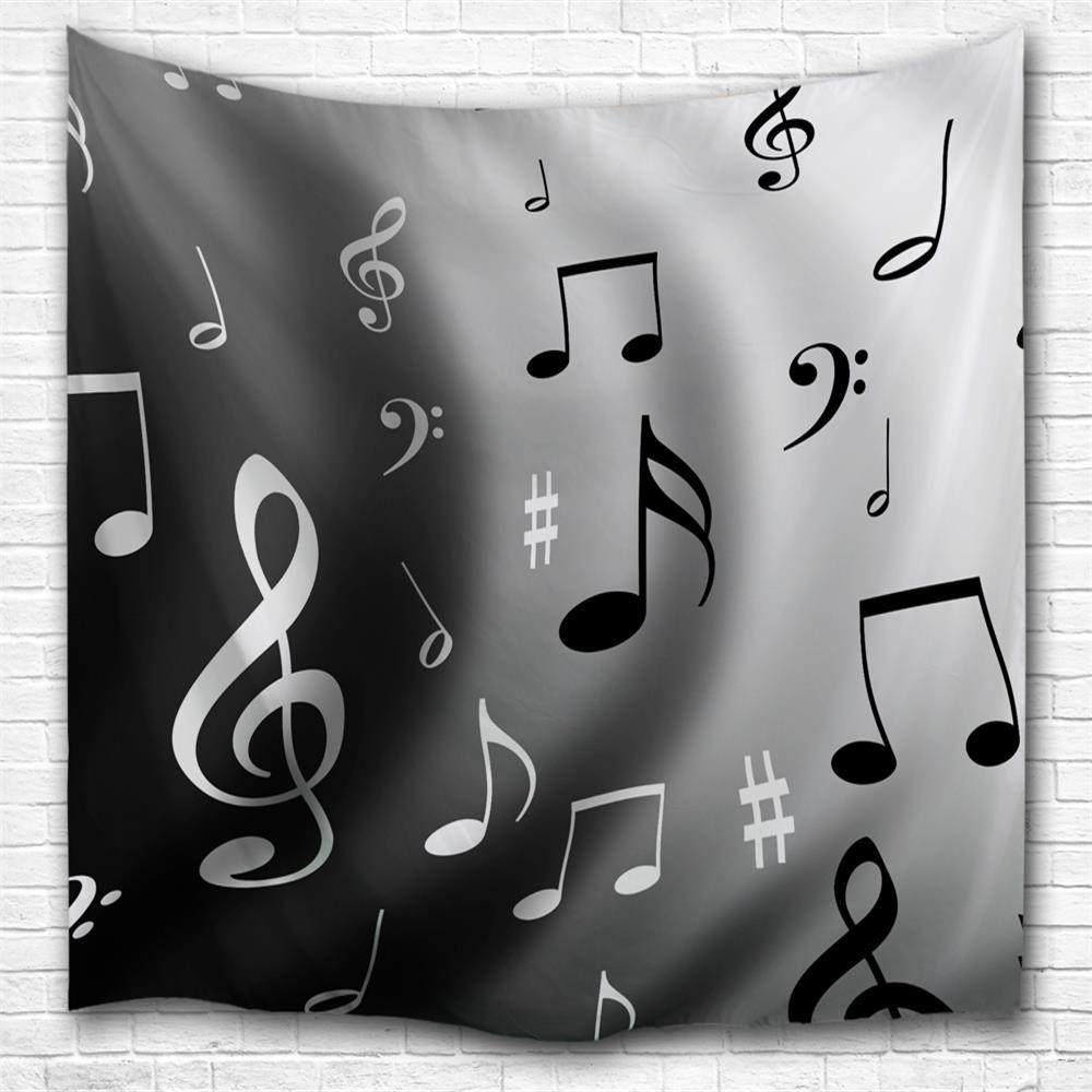 Wave Notes 3D Printing Home Wall Hanging Tapestry for Decoration - multicolor A W229CMXL153CM