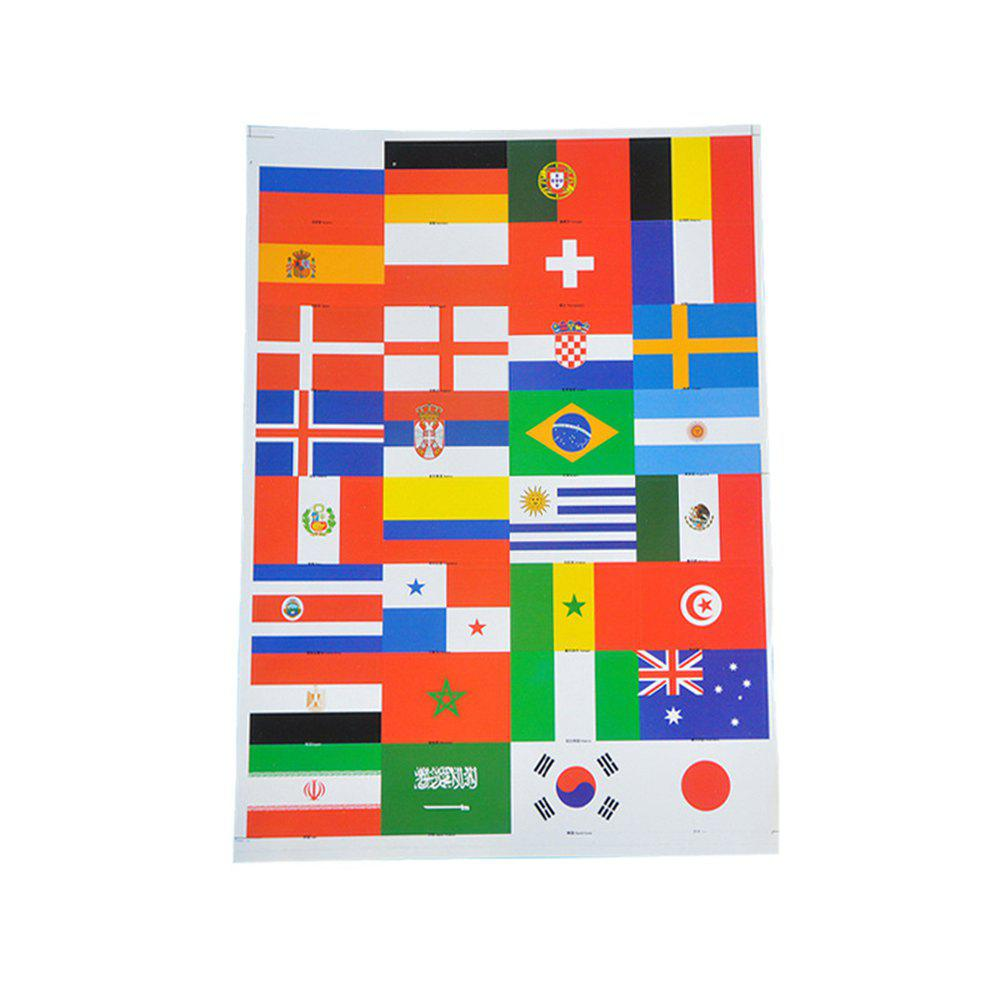 World Cup Fan Face Stickers - multicolor A