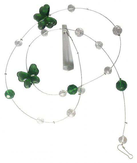 Butterfly Crystal Bead Curtain - PINE GREEN