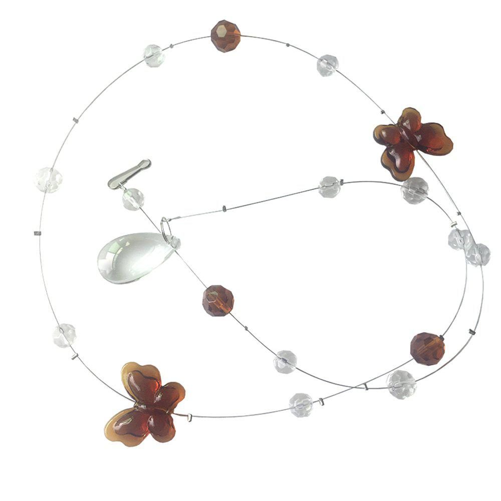 Butterfly Crystal Bead Curtain - SEPIA