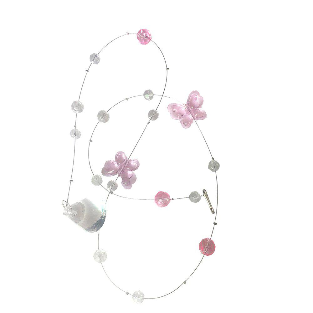Butterfly Crystal Bead Curtain - PINK