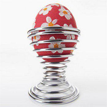 Stainless Steel Egg Spring Support Practical Shelf Tools - SILVER