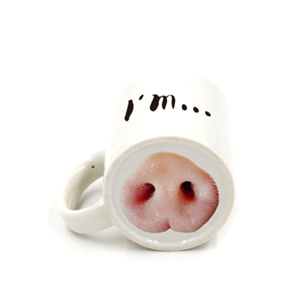 Creative Funny Pig Nose Ceramic Cup 140x130x 12mm ceramic ring for ink cup tampon machine