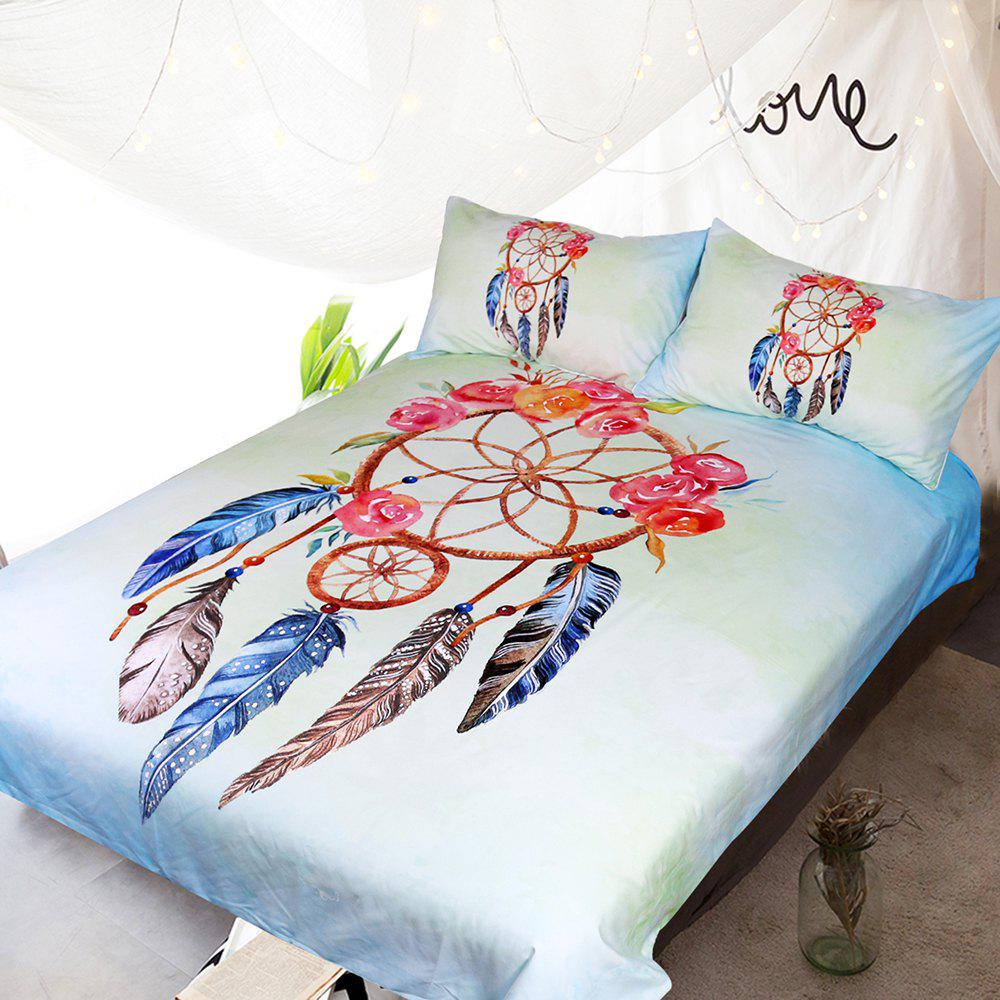 Rose Dreamcatcher Bedding  Duvet Cover Set Digital Print 3pcs - multicolor KING