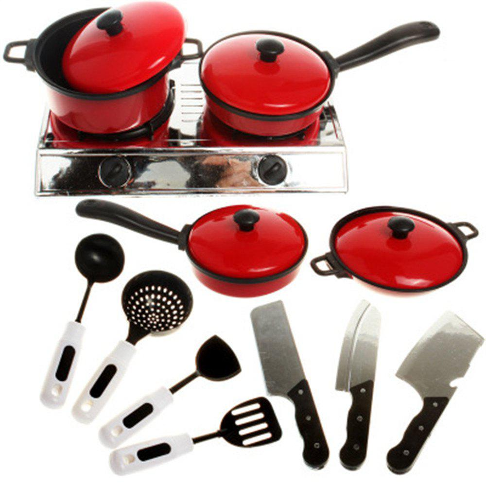 13 Pieces of Kitchen Toys for Children - RED