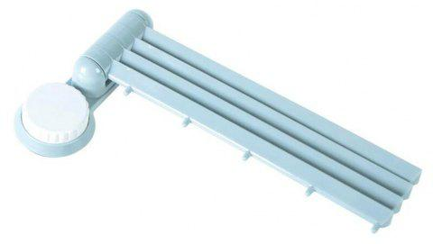 Punch-free Rotary 4-Bar Towel Rack - LIGHT BLUE