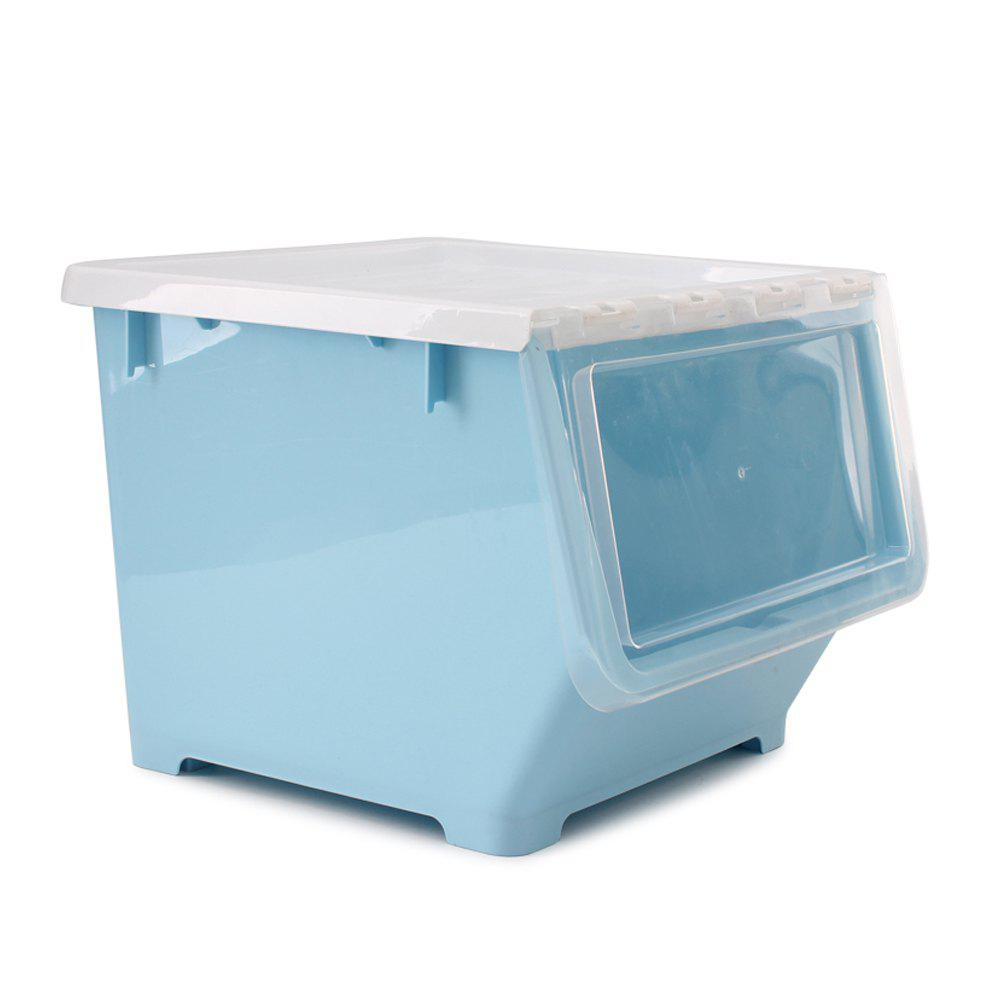 Front Opening Oblique Stacking Storage Box - DAY SKY BLUE